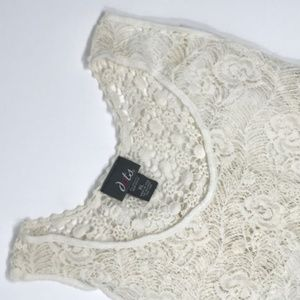 High-Low Lace Tank NWOT